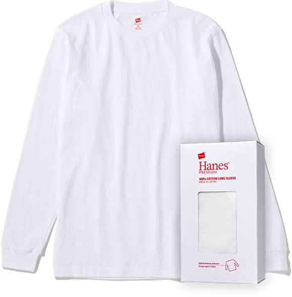 Hanes PREMIUM Crew Neck long Sleeve