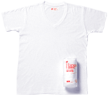 Hanes T-SHIRTS Japan Fit Vネック ホワイト