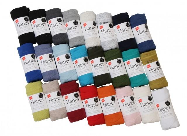 "Hanes史上最多のカラーバリエーション ""Hanes colors(ヘインズ カラーズ)""がこの春、24色展開で登場"